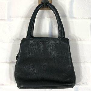 Fossil Black Leather Mini Handbag